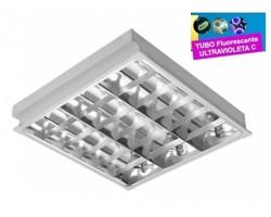 Luminaria Empotrar 597x597mm 4x15W UV desinfectante