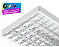 Luminaria Superficie 1230x575mm 4x36W UV desinfectante