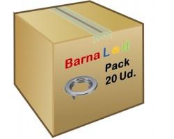 Foco fijo empotrar Plata, para Lámpara GU10/MR16, Caja 20ud a 1,80€/ud