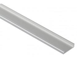 Perfil Aluminio Anodizado Superficie Flexible 18x6mm. para tiras LED, barra de 3 Metros