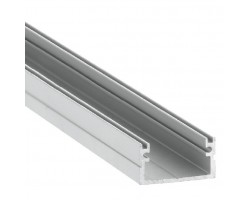 Perfil superficie aluminio anodizado 20x11mm para tiras LED, barra 2 Metros
