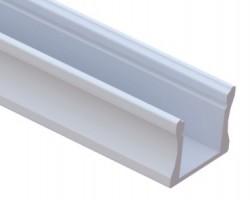 Perfil Aluminio Superficie LINE 17,5x14mm. para tiras LED, barra de 2 Metros