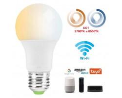 Lámpara LED Standard E27 12W CCT Wifi, para Smartphone y control voz