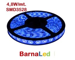 Tira LED 5 mts Flexible 24W 300 Led SMD 3528 IP20 Azul