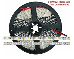 Tira LED 5 mts Flexible 48W 600 Led SMD 3528 IP20 Blanco Frío Alta Luminosidad