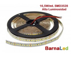 Tira LED 5 mts Flexible 82,5W 1020 Led SMD 3528 IP20 Blanco Frío Alta Luminosidad
