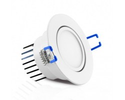 Foco Downlight LED Orientable Redondo empotrar Blanco Ø68mm 3W IP54