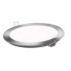 Downlight panel LED Redondo 295mm Cromado 24W
