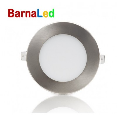 Downlight panel LED Redondo 120mm Cromado 6W