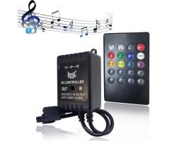 Controlador para tira LED RGB 5V/12V/24V MUSICAL con mando