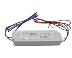 Fuente alimentación LED Voltaje constante IP67 35W 12VDC MEAN WELL