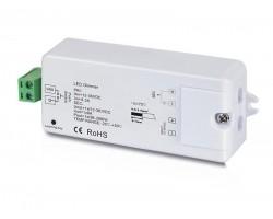 Regulador para tira LED Monocolor 12V-36V dc 8A, para pulsador ó mando distancia