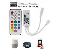 Controlador para tira led RGB 12V/24V wifi para Smartphone y Alexa