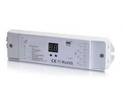 Receptor Controlador DALI para tira LED Monocolor, RGB y RGBW 12-36V 4 canales 4 direcciones 240-720W