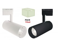 Foco Carril Monofásico LED COB 30W 25º, Caja 10 Ud x 12,80€/ud