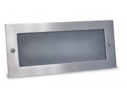 Foco LED exterior IP54 empotrar pared Marco Acero Inox 3,6W 180Lm