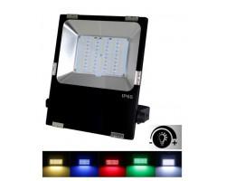 Foco LED exterior PRO 30W RGB+CCT (3000ºK-6000ºK) IP65 Negro