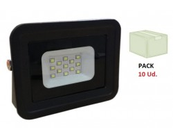 Foco Proyector LED exterior Slim Negro NEOLINE Class 10W IP65 SMD, Caja 10ud x 3€/ud