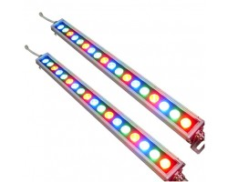 Foco LED exterior bañador pared lineal 18W 24V 500mm RGB