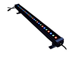 Foco LED exterior bañador pared lineal 36W 24V 1000mm RGB