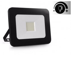 Foco Proyector LED exterior Slim NEOLINE IPAD Glass Negro 20W IP65 SMD Regulable