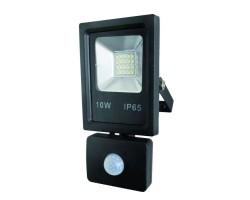 Foco LED exterior SLIM 10W IP-65 SMD con Detector de Movimiento