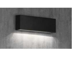 Aplique LED exterior IP65 superficie pared R 6W 480Lm Negro