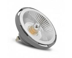 Lámpara LED AR111 Aluminio G53 15W 12V 110º
