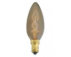 Lámpara Vela lisa E14 25W Filamento Carbono