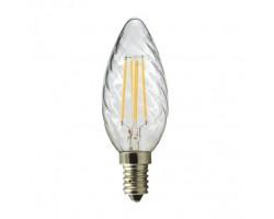 Lámpara LED Vela Rizada Clara E14 4W Filamento