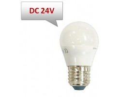 Lámpara LED Esferica E27 24V DC 5W Opal