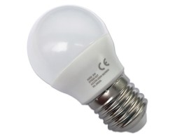 Lámpara LED Esferica E27 4W Opal