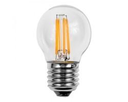 Lámpara LED Esferica Clara E27 2W Filamento