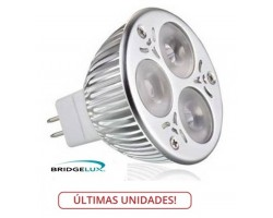 Lámpara LED MR16 6W, Blanca Neutra, Bridgelux