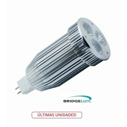 Lámpara LED MR16 9W Blanca Fría, Bridgelux L