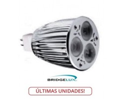 Lámpara LED MR16 9W Blanca Neutra, Bridgelux