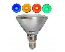 Lámpara LED PAR38 E27 18W 230V, angulo 120º IP65, colores