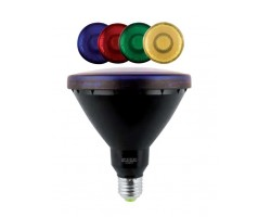 Lámpara LED PAR38 E27 15W 230V, colores