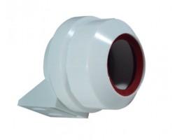 Portalámpara estanco para tubo LED o fluorescente T8, fijación tornillo