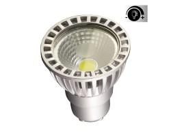 Lámpara LED GU10 COB 6W 50º, Regulable