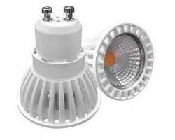 Lámpara LED GU10 Blanca COB 6W 50º