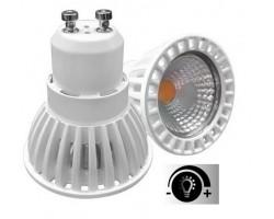 Lámpara LED GU10 Blanca COB 6W 50º, Regulable