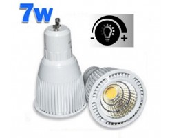 Lámpara LED GU10 COB 7W 230V 60º Regulable