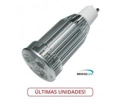 Lámpara LED GU10 9W, Banca Fría, Bridgelux