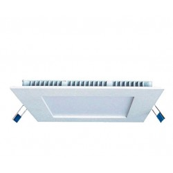 Downlight panel LED Cuadrado 225x225mm Blanco 18W Blanco Frío