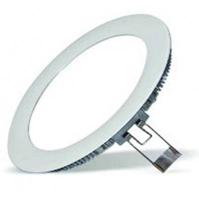 Downlight panel LED Redondo 225mm Gris 18W Blanco Neutro