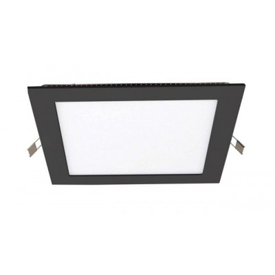 Downlight panel LED Cuadrado 120x120mm Negro 6W