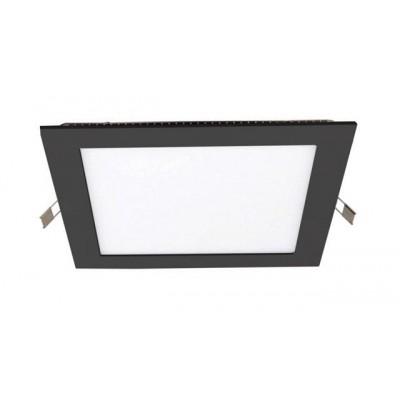 Downlight panel LED Cuadrado 200x200mm Negro 15W