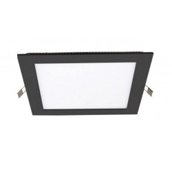 Downlight panel LED Cuadrado 225x225mm Negro 18W