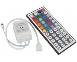 Controlador para tira LED RGB 144W con mando 44 botones